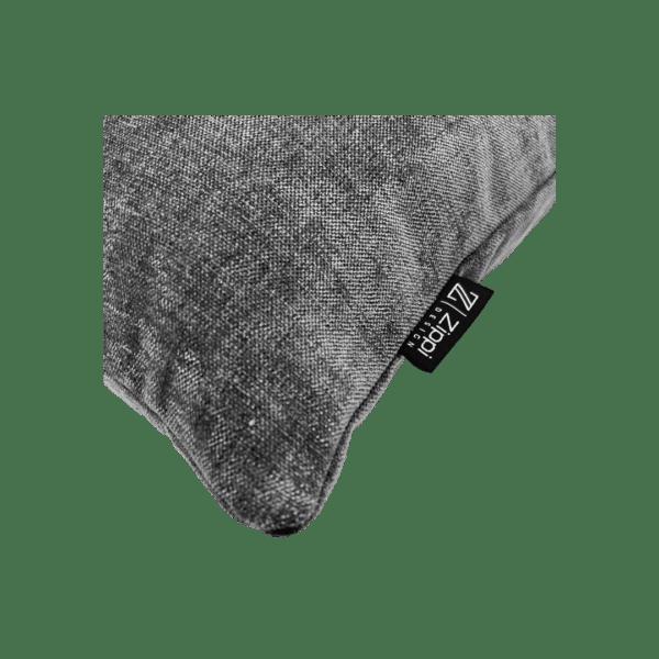 grijs luxe zippi design sierkussen kussen