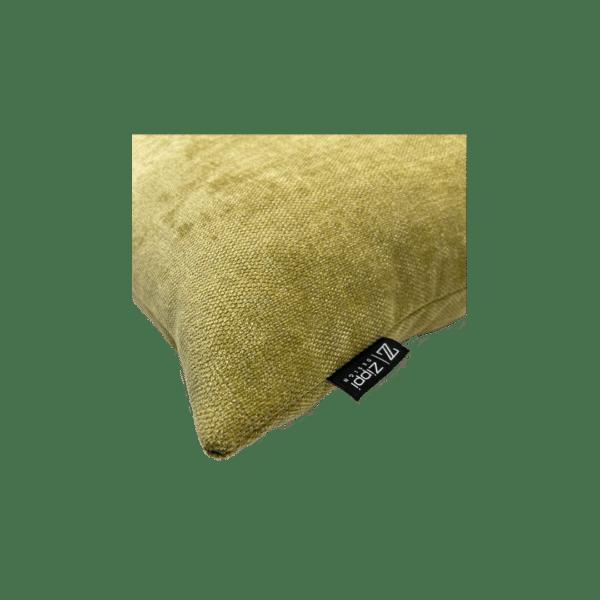 geel groot kussen sierkussen luxe zippi design
