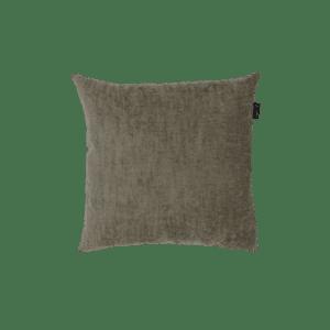 Grijs bruin velvet sierkussen kwaliteit mooi zippi design