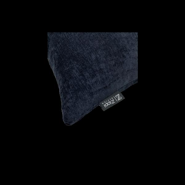 zwart glans groot kussen sierkussen luxe zippi design