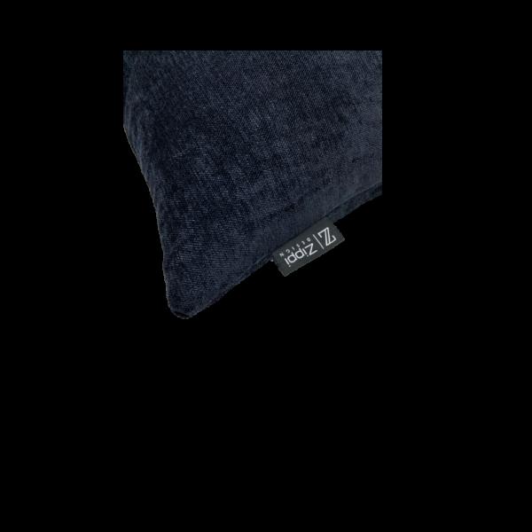 zwart glans luxe sierkussen zippi design kussen