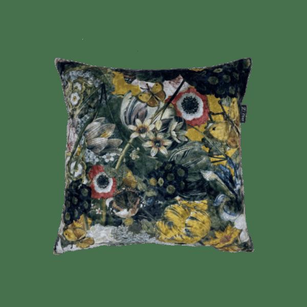bloemen groot kussen fluweel velvet zippi design