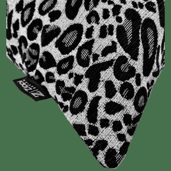 luipaard zwart wit zilver groot zippi design sierkussen kussen