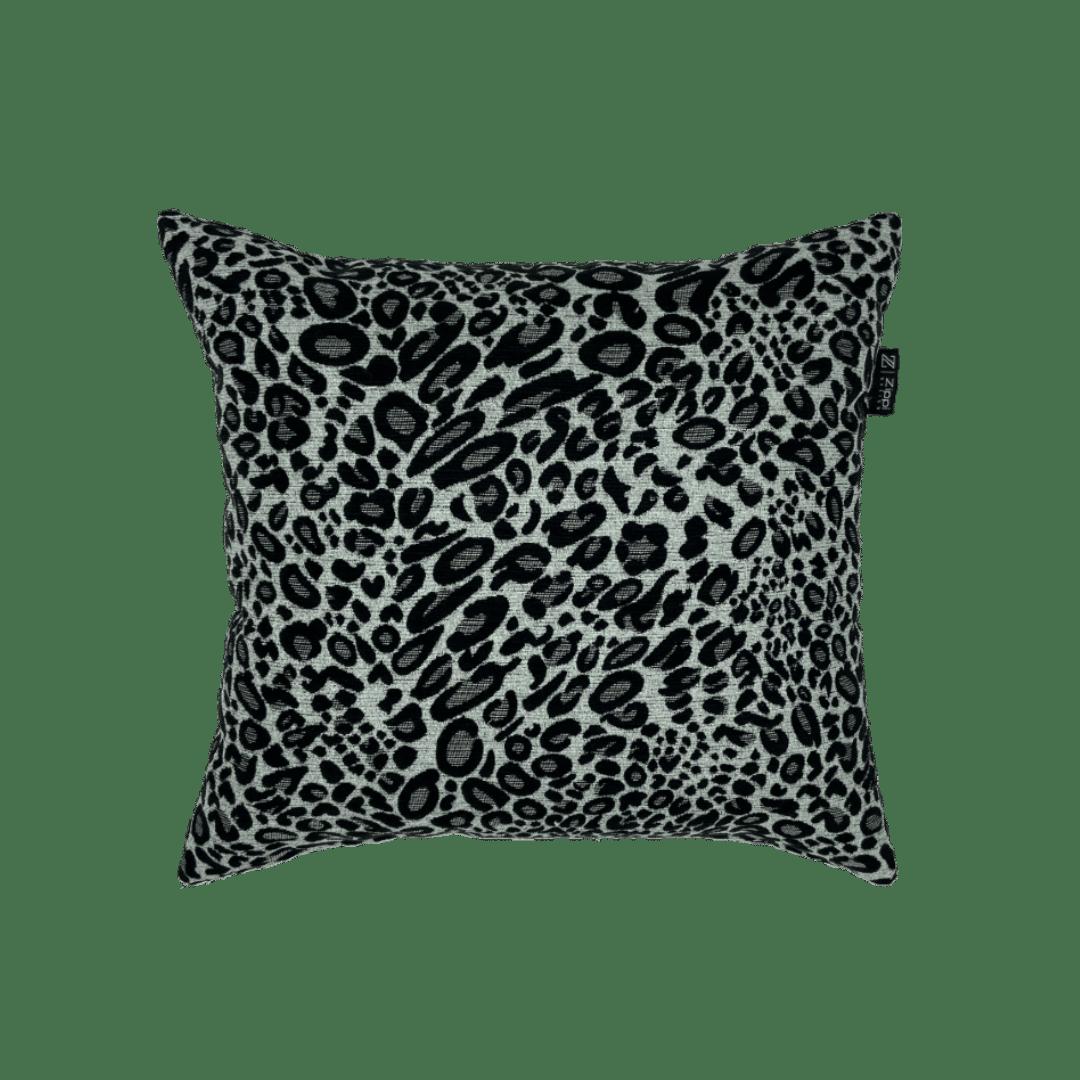 luipaard motief zwart zilver wit zippi design groot Luxe sierkussen kussen