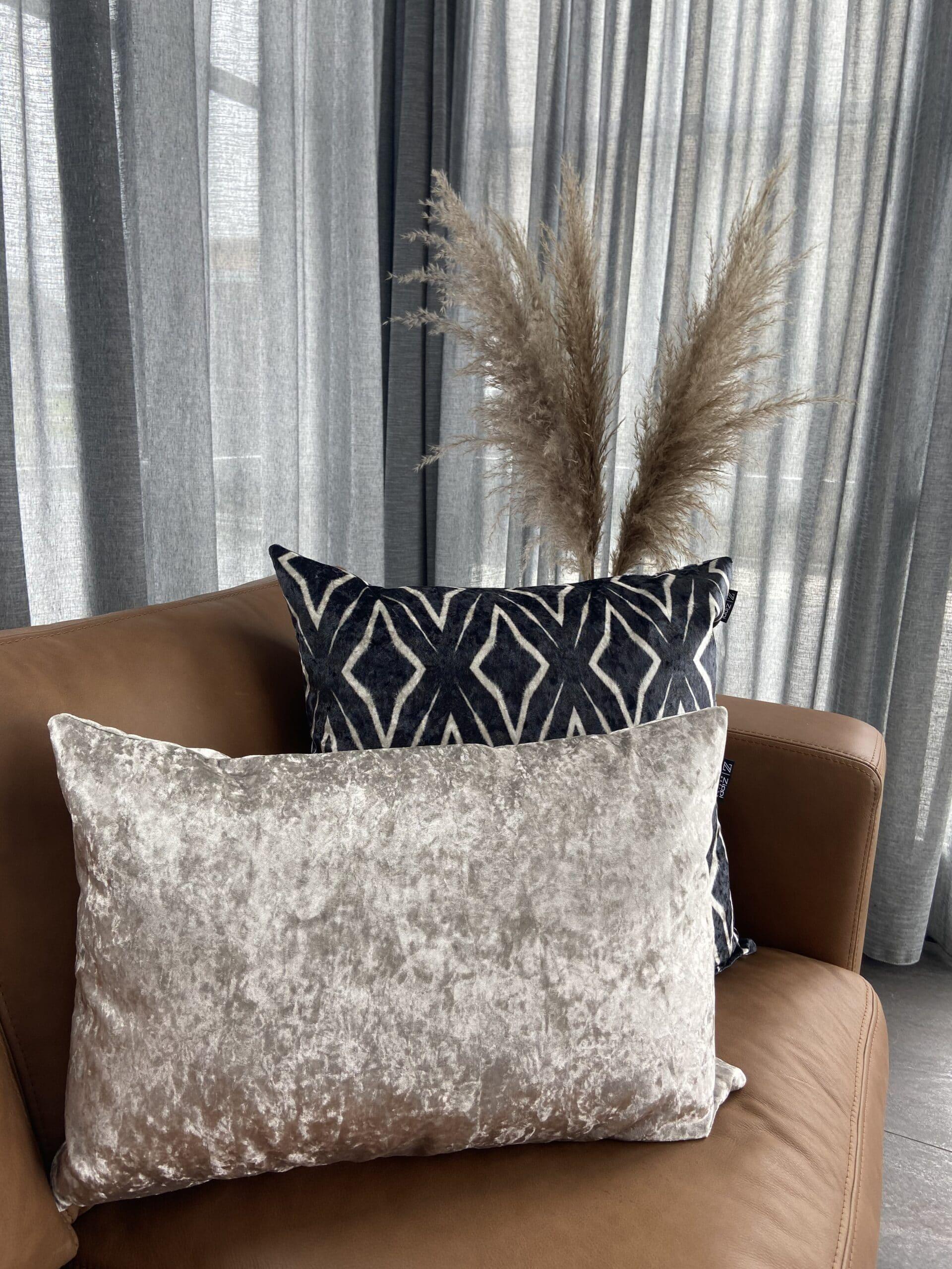 goud fluweel velvet zippi design luxe sierkussen